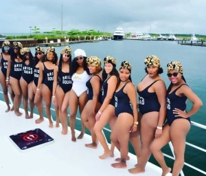See Hot Photos Of Bridal Train In Swimsuits That Got People Talking